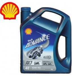 Shell Advance 4T AX 7 10W40 SLMA2 Latta da 4 litri
