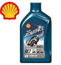 Shell Advance 4T AX 7 15W50 SLMA2 Latta da 1 litro