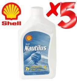 Olio Motore per Fuoribordo - Shell Nautilus Premium Outboard 2T TC-W3 - 5 Litri