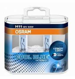 OSRAM COOL BLUE INTENSE H11 Lampada alogena per proiettori 64211CBI-HCB 4200K e 20% di luce in più - confezione Duobox
