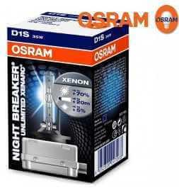 OSRAM XENARC NIGHT BREAKER UNLIMITED D1S Lampada per proiettori allo Xeno 66140XNB 70% di luce in più 1