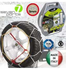 Catene da Neve Seven Parts 7 - 9MM Omologate Onorm - Misura 20 - Made in Italy