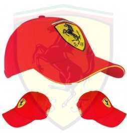 Cappellino Ufficiale della Scuderia Ferrari - Stemma Ferrari Cucito a Mano
