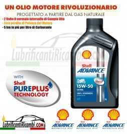 Shell Advance 4T Ultra 15W50 SMMA2 Latta da 1 litro