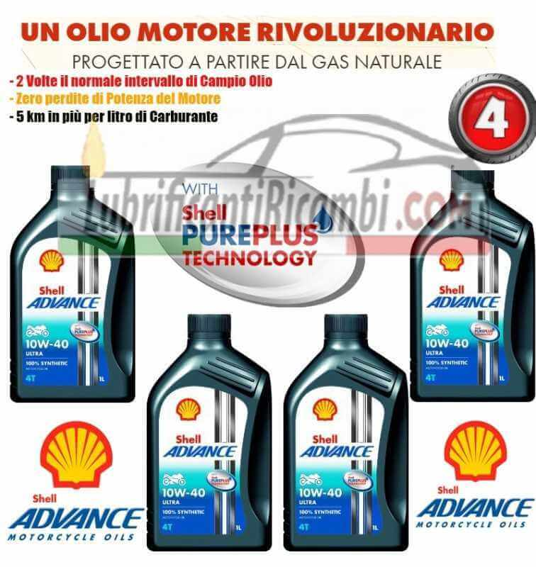 Shell Advance 4T Ultra 10W40 SMMA2 Latta da 1 litro