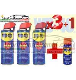 WD-40 Lubrificante, Anticorrosivo e Sbloccante, Professionale,Trasparente 3x 500ml + 1da 25ml