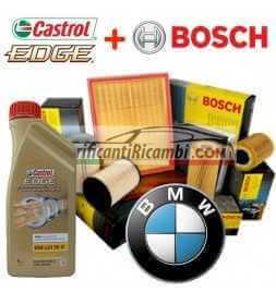 Kit tagliando olio CASTROL EDGE LL04 5W30 6LT+4 FILTRI BOSCH BMW 320D E90-E91