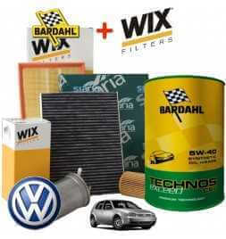 Kit tagliando olio BARDAHL TECHNOS C60 5W40 Exceed 5LT 4 FILTRI WIX VW GOLF 4 IV 1.9 96 KW
