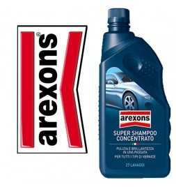 AREXONS SUPER SHAMPOO 1LT CONCENTRATO CARROZZERIA AREXONS AUTO MOTO 27 LAVAGGI