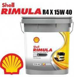 Olio Lubrificante Motore Shell Rimula R4 X 15W40 20 LT Caterpillar Cummins Deutz Renault IVECO Volvo