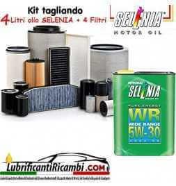 KIT TAGLIANDO FILTRI + OLIO SELENIA WR 5W30 5LT ALFA GIULIETTA 1.6 JTDM