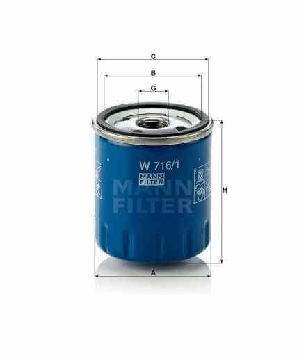 Filtro olio  Mann W 716//1