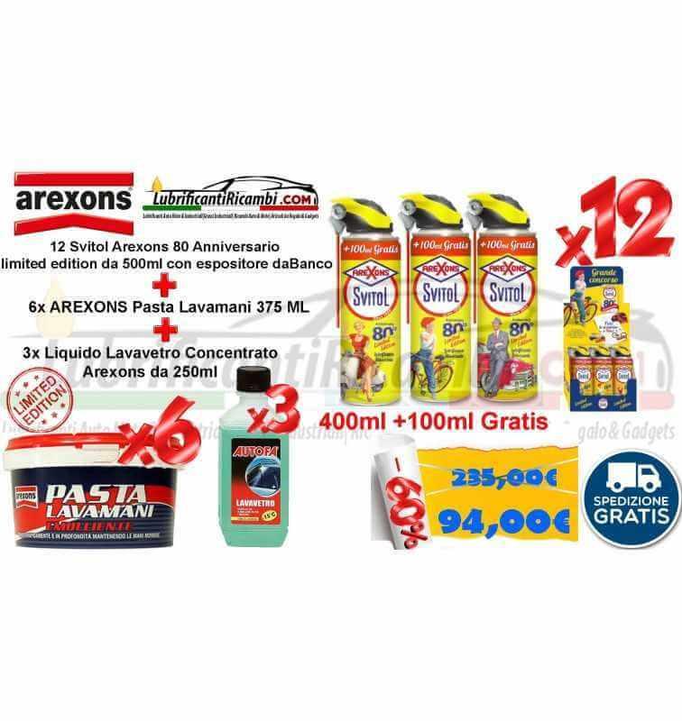 12 Svitol Arexons  da 500ml + 6x Pasta Lavamani 375 Ml + 3x LAVAVETRO da 250ML