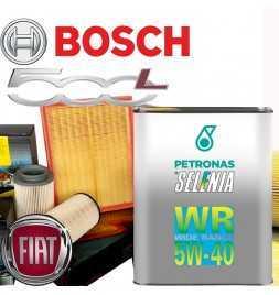 Kit tagliando olio motore 5lt Selenia WR Wide Range graduazione 5W-40 + Filtri Bosch - Fiat 500 L 1.4 /12