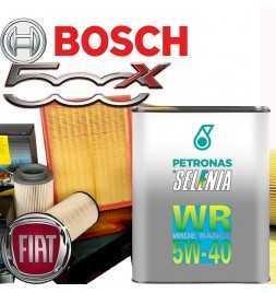 Kit tagliando olio motore 5lt Selenia WR Wide Range graduazione 5W-40 + Filtri Bosch - Fiat 500 X 1.4 MultiAir /14→