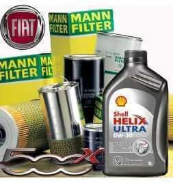 Kit tagliando olio motore 5lt Shell Helix Ultra ECT C2/C3 0W-30 + Filtri Mann Filter-Fiat 500 X 1.6 MultiJet CRD /14-