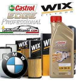 KIT tagliando olio CASTROL EDGE 5W30 Professional Titanium FST  5LT 4 FILTRI Wix Filters MOTORI BLS BXE BKC
