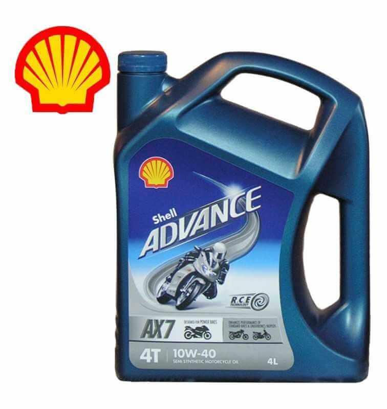 Shell Advance 4T AX7 10W40 SLMA2 Latta da 4 litri