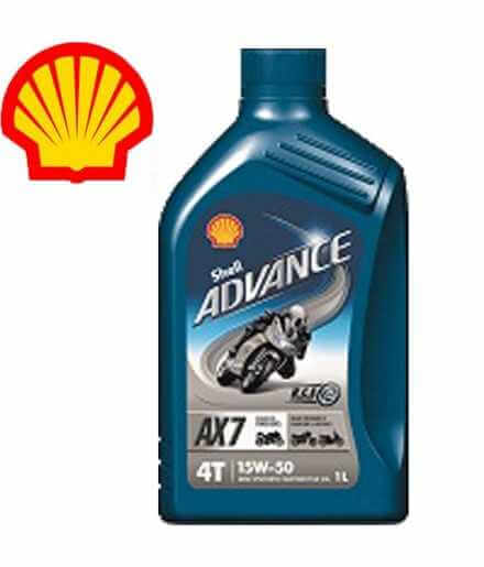 Shell Advance 4T AX7 15W50 SLMA2 Latta da 1 litro