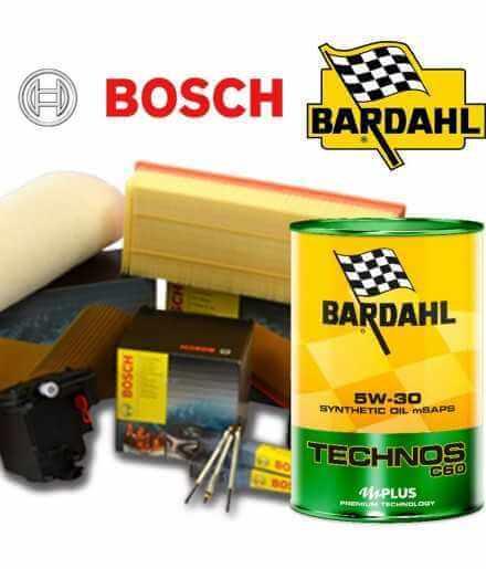 Cambio olio motore 5w30 BARDHAL TECHNOS C60 e Filtri Bosch C4 I 1.6 HDI FAP 68KW/92CV (mot.DV6CTED)