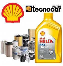 C3 II 1.4 VTI 16V II serie cambio olio motore 10w40 Shell Hx6 e 4 filtri Tecnocar per cod mot EP3Cdal 11/09