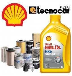 C3 II 1.4I II serie cambio olio motore 10w40 Shell Hx6 e 4 filtri Tecnocar per cod mot TU3Adal 11/09
