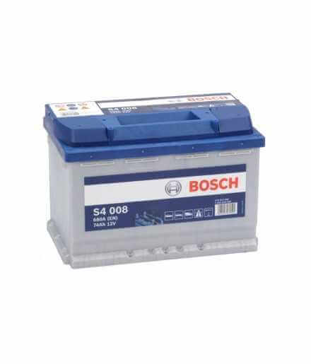BATTERY STARTING BOSCH S4 74Ah 680A 12V - 0092S40080