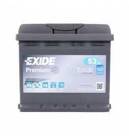 Batería coche Exide 12V 53 AH POS DX 540A con arranque EA530