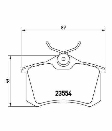 BREMBO PASTIGLIE DEI FRENI PASTIGLIE FRENO POSTERIORE p85020 per VW AUDI SEAT SKODA 20961//23554