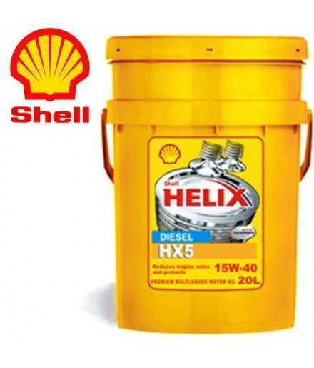 Shell Helix HX5 15W-40 (SN A3/B3) Secchio da 20 litri