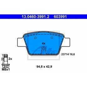 ATE Kit de plaquettes de frein, frein à disque 13.0460-3991.2