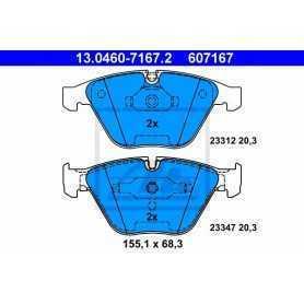 ATE Brake Pad Set, disc brake 13.0460-7167.2