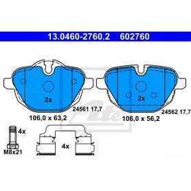 Kit Pastiglie Freni ATE , freno a disco 13.0460-2760.2