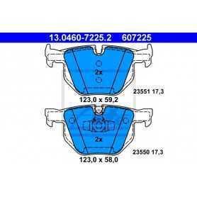 ATE Kit de plaquettes de frein, frein à disque 13.0460-7225.2