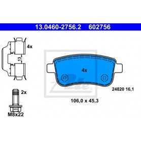 ATE Brake Pad Set, disc brake 13.0460-2756.2