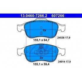 ATE Brake Pad Set, disc brake 13.0460-7266.2