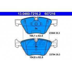 Kit Pastiglie Freni ATE , freno a disco 13.0460-7216.2