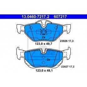 ATE Kit de plaquettes de frein, frein à disque 13.0460-7217.2