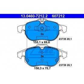 Kit Pastiglie Freni ATE , freno a disco 13.0460-7212.2