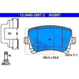 ATE Brake Pad Set, disc brake 13.0460-2887.2