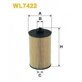 Filtro olio WIX FILTERS codice WL7422