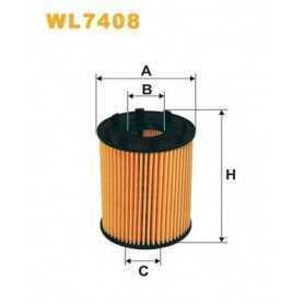 Filtro olio WIX FILTERS codice WL7408