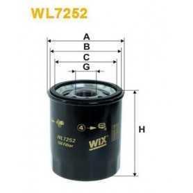 WIX FILTERS filtro de aceite código WL7252