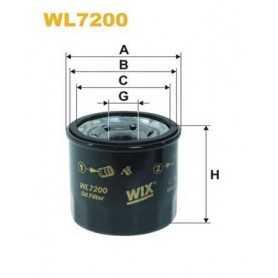 Filtro olio WIX FILTERS codice WL7200