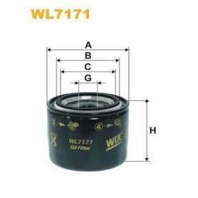 Filtro olio WIX FILTERS codice WL7171