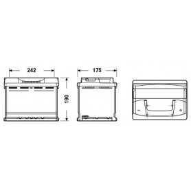 Autobatterie Exide Excell 62AH 540EN ab 12V OEM EB620 positiv rechts