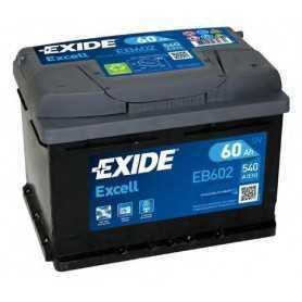 Batteria per auto Exide Excell 60AH 540 spunto 12V EB602 positivo dx