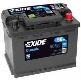 EXIDE starter battery code EC550