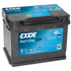 Batteria avviamento EXIDE codice EK600