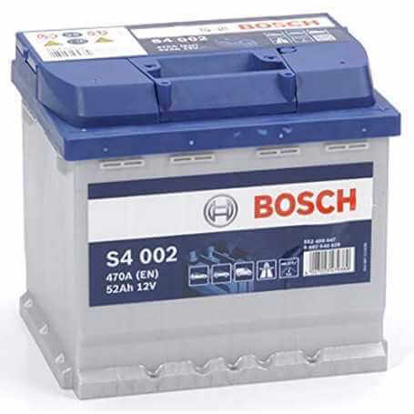 BATTERY STARTING BOSCH S4 52Ah 470A 12V - 0092S40020